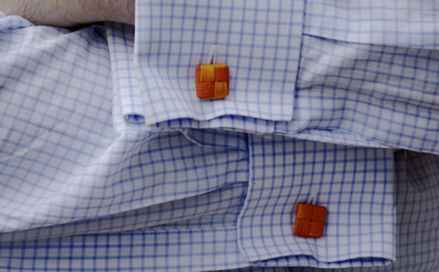 Orange Cufflinks Smaller